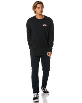 BLACK MENS CLOTHING HURLEY TEES - CQ8557010