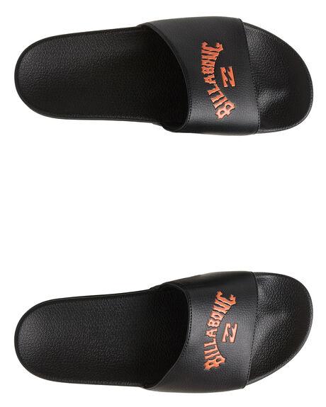 BLACK/ORANGE MENS FOOTWEAR BILLABONG THONGS - BB-9607945X-BON