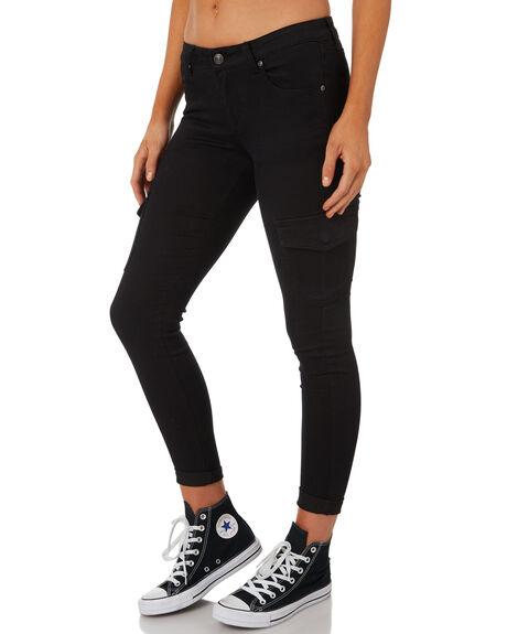 BLACK WOMENS CLOTHING RUSTY PANTS - PAL0911BLK