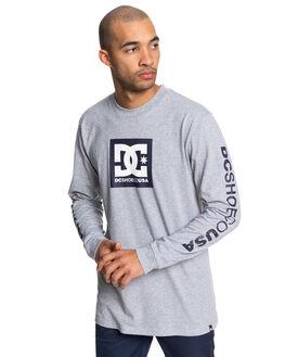 GREY HEATHER/BLACK MENS CLOTHING DC SHOES TEES - UDYZT03658-XBBB