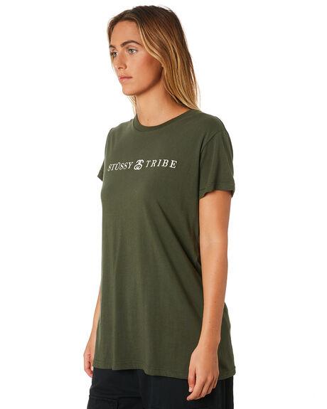FLIGHT GREEN WOMENS CLOTHING STUSSY TEES - ST196010GRN