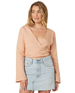 FAWN WOMENS CLOTHING ALL ABOUT EVE FASHION TOPS - 6423031TAN