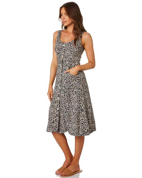 NAVY FLORAL OUTLET WOMENS RHYTHM DRESSES - QTM19W-DR28NAVY