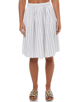 WHITE WOMENS CLOTHING RUSTY SKIRTS - SKL0434WHT