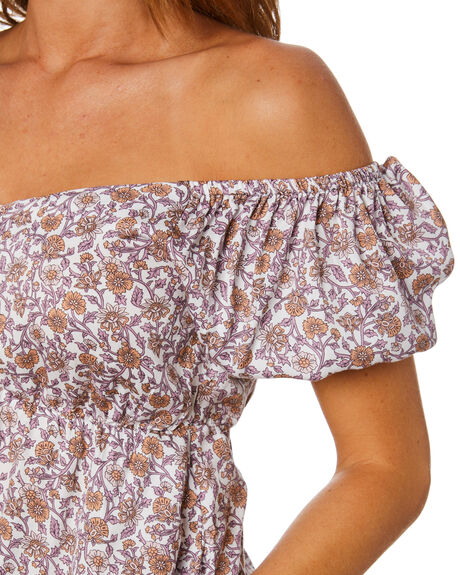 SUNKISSED FLORAL WOMENS CLOTHING THE HIDDEN WAY FASHION TOPS - H8212171SKDFL