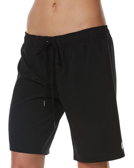 BLACK WOMENS CLOTHING ROXY SHORTS - ERJBS03054BLK