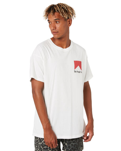 WHITE MENS CLOTHING THE PEOPLE VS TEES - AW20104_WHT