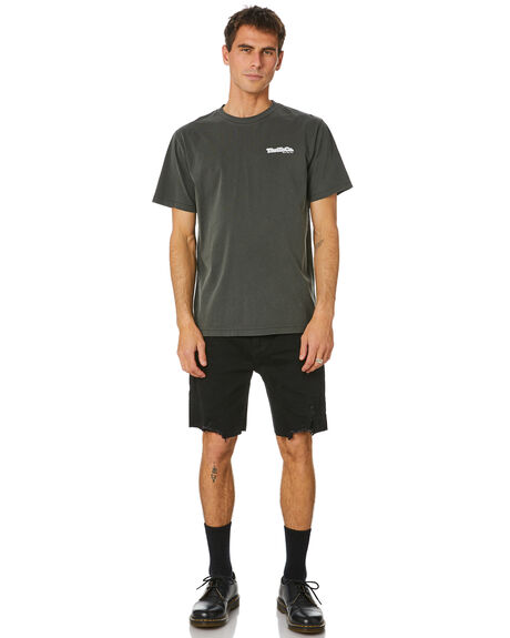 MERCH BLACK MENS CLOTHING THRILLS TEES - TH20-123BMMBLK