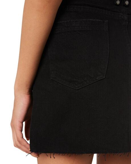 BLACK RINSE WOMENS CLOTHING THRILLS SKIRTS - WTDP-329BRBLKR