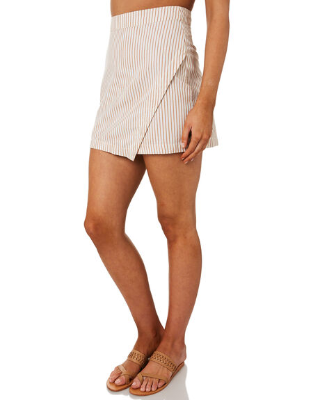WHITE BROWN WOMENS CLOTHING RIP CURL SKIRTS - GSKDM11196
