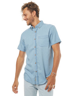 CHAMBRAY MENS CLOTHING ACADEMY BRAND SHIRTS - 18S844CHAM