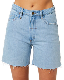 WASTED BLUE WOMENS CLOTHING THRILLS SHORTS - WTDP-315EWWSTBL