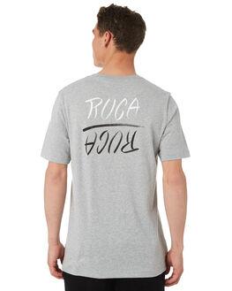 GREY MARLE MENS CLOTHING RVCA TEES - R182048GRYML