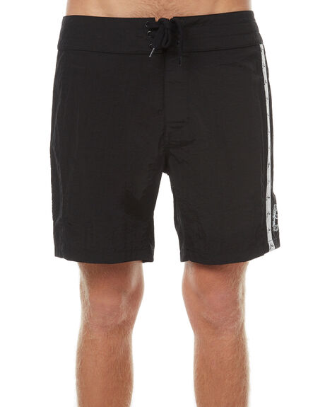 BLACK MENS CLOTHING RUSTY BOARDSHORTS - BSM1198BLK