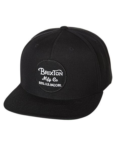 BLACK MENS ACCESSORIES BRIXTON HEADWEAR - 415-00375-0803BLK