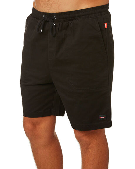 BLACK MENS CLOTHING GLOBE SHORTS - GB01926000BLK