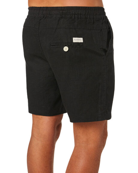 BLACK MENS CLOTHING ACADEMY BRAND SHORTS - 20S609BLK