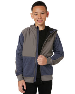 NAVY MARLE KIDS BOYS RIP CURL JUMPERS + JACKETS - KFEAL93277