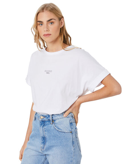 WHITE WOMENS CLOTHING SWELL TEES - S8204001WHITE