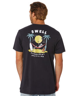 BLACK MENS CLOTHING SWELL TEES - S5202019BLACK