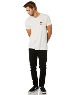 VINTAGE WHITE RED MENS CLOTHING ROLLAS TEES - 156854666