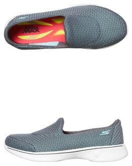 GREY WOMENS FOOTWEAR SKECHERS SLIP ONS - 14900GRY