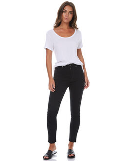 BLACK WOMENS CLOTHING DR DENIM JEANS - 1410104-101W