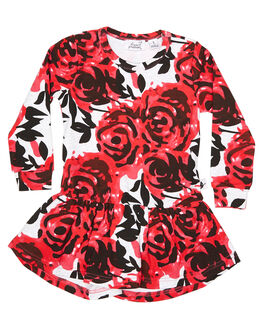 FLORAL KIDS TODDLER GIRLS KISSED BY RADICOOL DRESSES - KR0722FLR