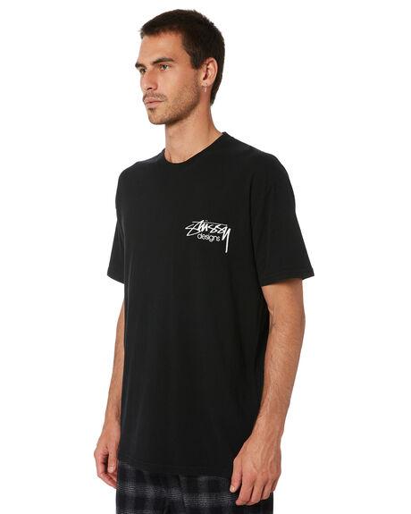 BLACK MENS CLOTHING STUSSY TEES - ST005008BLK