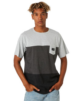 BLACK MENS CLOTHING RIP CURL TEES - CTETP20090