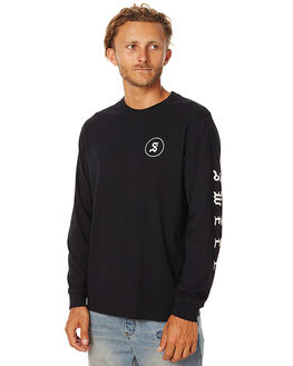 WASHED BLACK MENS CLOTHING SWELL TEES - S5162101WBLK