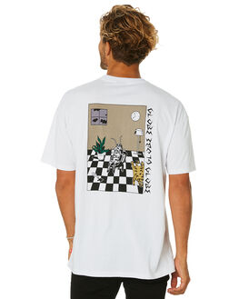 WHITE MENS CLOTHING GLOBE TEES - GB01930014WHT