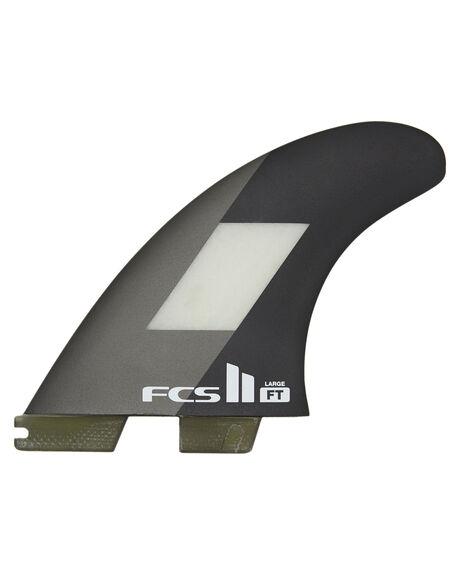GREY BLACK BOARDSPORTS SURF FCS FINS - FFTL-PC01-LG-TS-RGBK