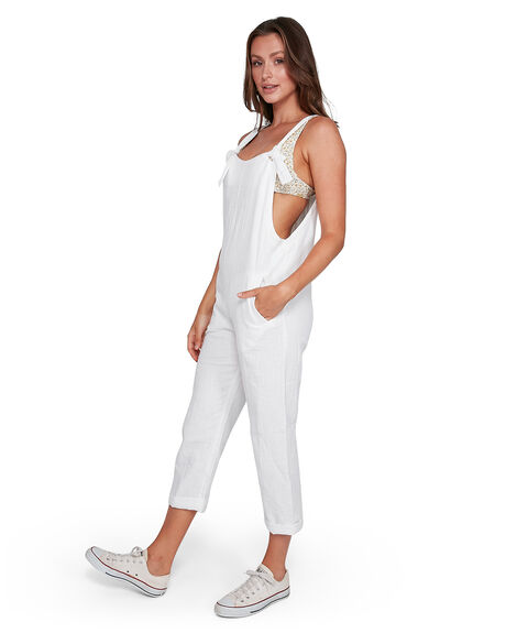WHITE WOMENS CLOTHING BILLABONG PLAYSUITS + OVERALLS - BB-6503534-WHT