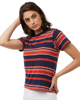 NAVY WOMENS CLOTHING ROLLAS TEES - 12459NAVY