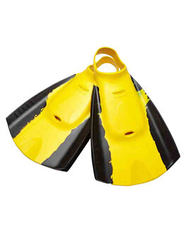 BLACK YELLOW SURF BODYBOARDS HYDRO ACCESSORIES - TFINBYL