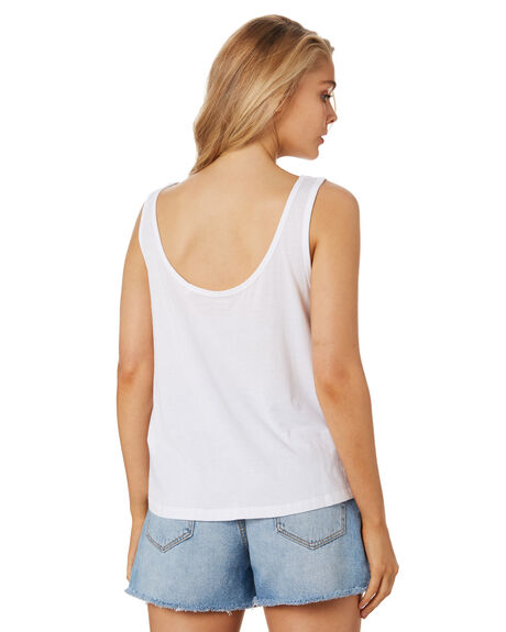WHITE WOMENS CLOTHING RIP CURL SINGLETS - GTEKY91000