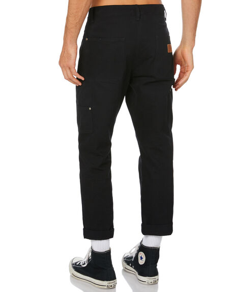 BLACK MENS CLOTHING RPM PANTS - 20WM24ABLK