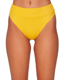 Rvca Solid High Rise Cheeky - Golden | SurfStitch