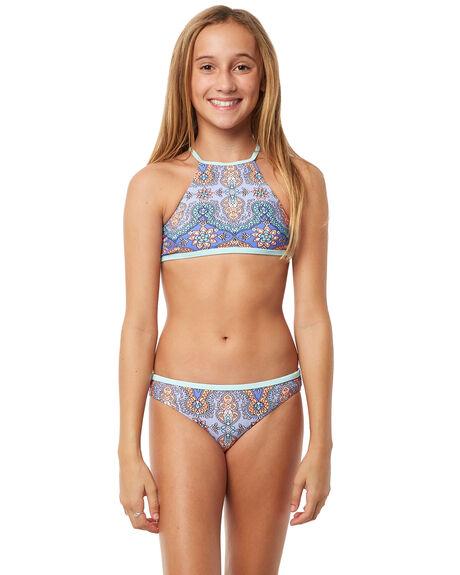 91d6506c59 Rip Curl Girls Mystic Sun High Neck Bikini - Teens - Aqua | SurfStitch