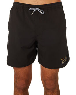 BLACK MENS CLOTHING RHYTHM BOARDSHORTS - JAN19M-JM10-BLK