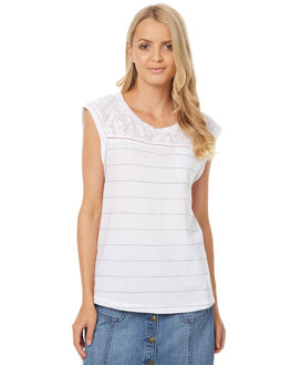 WHITE WOMENS CLOTHING ELEMENT SINGLETS - 273004AWHT