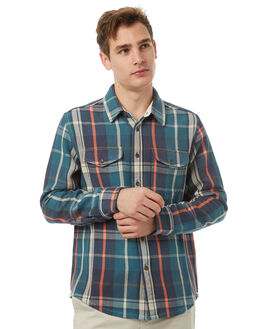 LAGOON PLAID MENS CLOTHING OUTERKNOWN SHIRTS - 1310023LPL