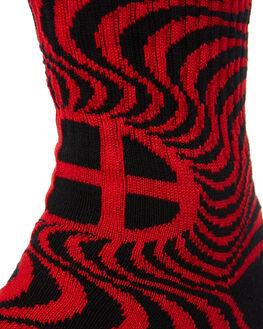 RED MENS CLOTHING HUF SOCKS + UNDERWEAR - SK00334RED