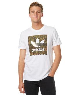 WHITE MENS CLOTHING ADIDAS ORIGINALS TEES - BR4988WHT