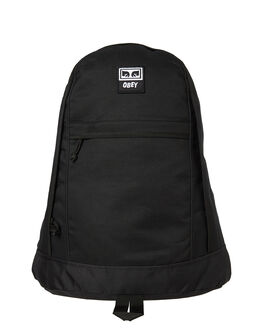 BLACK MENS ACCESSORIES OBEY BAGS + BACKPACKS - 100010099BLK