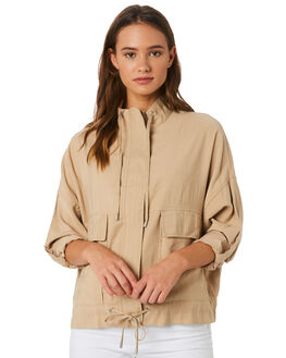 DEEP SAND WOMENS CLOTHING NUDE LUCY JACKETS - NU23572DSND