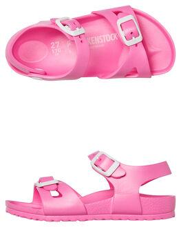 PINK WOMENS FOOTWEAR BIRKENSTOCK FLATS - 126163PINK