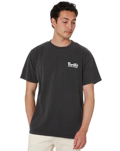 VINTAGE BLACK MENS CLOTHING THRILLS TEES - TS20-104BVVBK