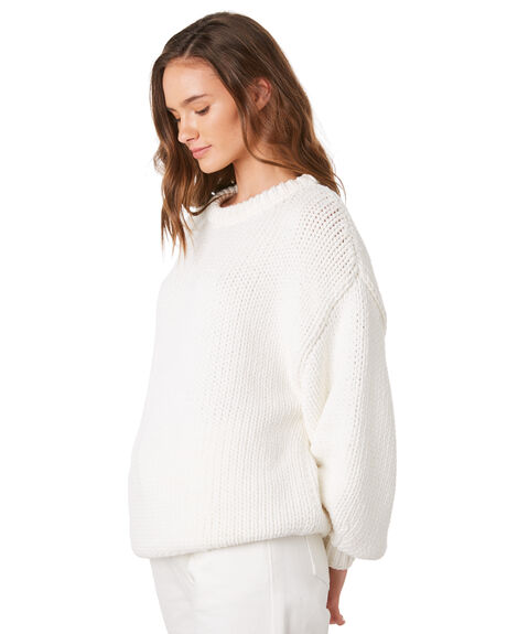 WHITE WOMENS CLOTHING ZULU AND ZEPHYR KNITS + CARDIGANS - ZZ2851WWHT